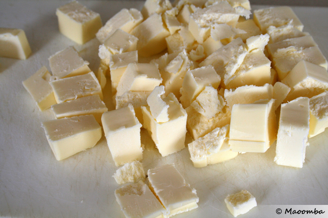 Cut the butter into chunks.